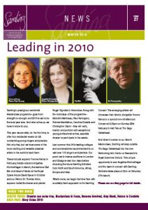 Front cover for Issue 27 – Winter 2010
