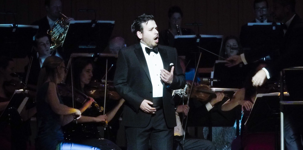 Luis Gomes singing with Royal Northern Sinfonia in Hall One Sage Gateshead